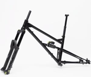 Heat Treated Steel Full Suspension Mountain Bike LV145 Rear Travel Frame