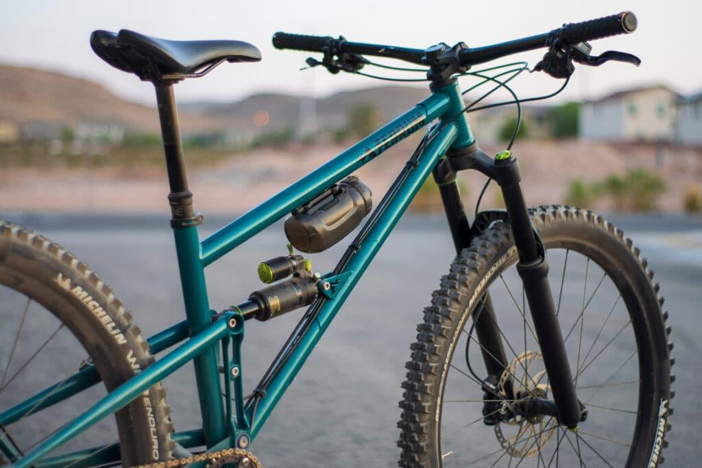 steel full suspension mountain bike frame